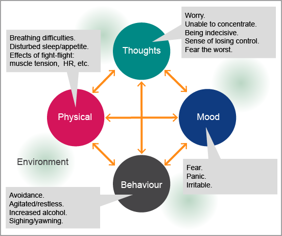 What is anxiety?: Thoughts, Mood, Behaviour, Physical and Environment